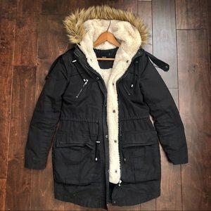 ASOS navy blue winter jacket